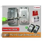 Canon Pixma Mx 410 Pg 510 Siyah Orj Bitmeyen Kartuş