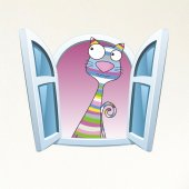 Dekorloft Çocuk Odası Pencere Sticker Pnc 814