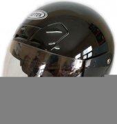 Faytek 188 Parlak Siyah Yarım Açık Motor Kaskı Çene Ayarlı Kask