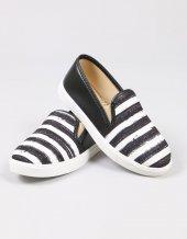Siyah Kumaş Çizgili Sneaker Kadın Ayakkabı
