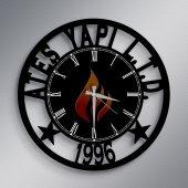 Firmalara Özel Logolu Ahşap Promosyon Duvar Saati (10 50 100 Adet) A1