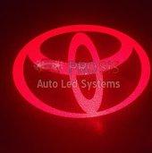 Toyota Bagaj Arkası Dış Yan Ayna Altı Cree Kırmızı Led Logo