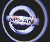 Nissan Araçlar İçin Pilli Yapıştırmalı Kapı Altı Led Logo