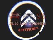 Citröen Araçlar İçin Pilli Yapıştırmalı Kapı Altı Led Logo