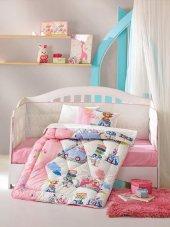Cotton Box Ranforce Bebek Uyku Seti Sevimli Seyahat Pembe