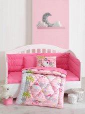 Cotton Box Ranforce Bebek Uyku Seti Sevimli Maymunlar Pembe