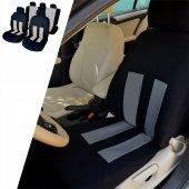 Yeni Model Oto Koltuk Kılıfı Airbag Uyumlu 11 Parça Siyah Gri Atkk13