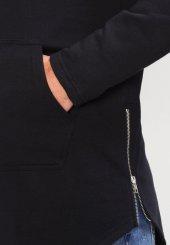 Your Turn Erkek Kapüşonlu Sweatshirt Hoodie Siyah Oval Kesim Ferm