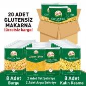 Beşler Glutensiz Makarna Paketi 4 Çeşit 20li Koli