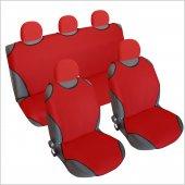3&#039 Lü Set Spor Oto Koltuk Kılıfı Atlet Tek Renk Başlık Lı Kırmızı Renk