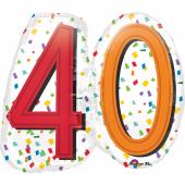 1 Adet Kikajoy 40 Yaş Temalı Renkli Folyo Balon 60 Cm X 55 Cm