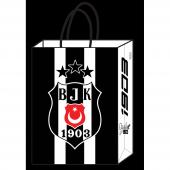 12 Adet 18 X 24 Cm Beşiktaş Büküm Saplı Çanta