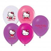 100 Adet Çift Taraflı Hello Kitty Baskılı Balon