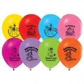 100 Adet Sünnet Baskılı Balon + Balon Pompası