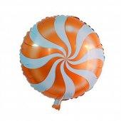Turuncu Renk Candy Folyo Balon 2li