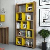 Variant Box Kitaplık Ceviz Sarı