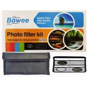Böwee 82mm Kit Filtre Seti (Uv Cpl Polarize Nd1000...