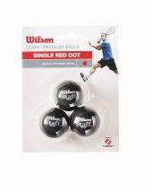 Wilson Squash Topu Staff 3 Ball Red Dot Wrt618200