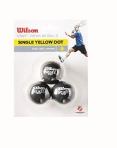 Wilson Squash Topu Staff 3 Yel Dot Wrt618300