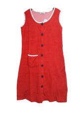 Cicikom Boydan Düğmeli Kolsuz Havlu Elbise Plaj Elbisesi