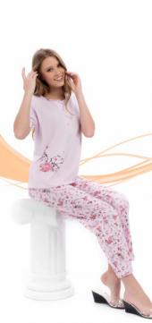çelebi 8233 34 O Yaka Patlı 100 Pamuk Bayan Pijama...