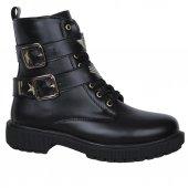 Nstep Dark Zn Bağcıklı Fermuarlı Termal Kışlık Bayan Bot Ayakkabı