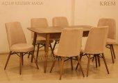 Ahşap Ayak Masa Taytüyü Sandalye Takımı 6 Kişilik Yemek Masası