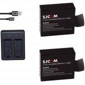 Sjcam Sj4000 Sj5000 M10 İki Batarya Ve Şarj Cihazı