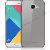 Samsung Galaxy C7 (C7000) Silikon Arka Kılıf 0,3mm Şeffaf Siyah