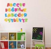 çocuk Odası Duvar Sticker Alfabe