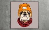 Cool Dog Dekoratif Kanvas Tablo