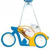 Mavi Renk Motorsiklet Model Çocuk Odası Avizesi