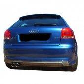Audi A3 8p S3 2005 2008 2 Kapı Arka Tampon Eki Difüzör (Plastik)