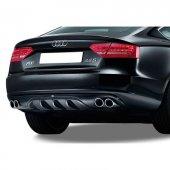 Audi A5 B8 A Style Arka Tampon Eki Difüzör (Plastik)