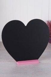 Sweet Home Kalp Şekilli Standlı Yazı Tahtası