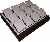 12li Karbon Küpe Tablası (Kahve)