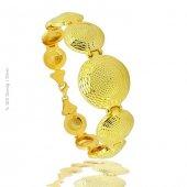 Gümüş Altın Kaplama Telkari Motifli Bayan Bileklik