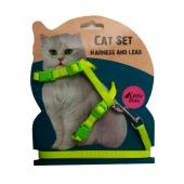 Ans Kedi Göğüs Bel Tasması Yeşil