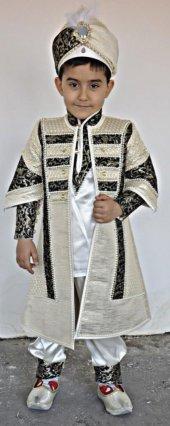 Elit Şehzade Sünnet Elbisesi Ekru Kahve Tonları