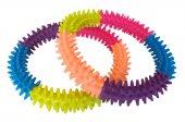 Köpek Diş Bakım Oyuncağı Dikenli Büyük Halka 12 Cm Renkli