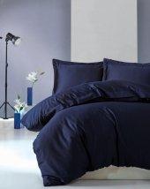 Cotton Box Çift Kişilik Saten Nevresim Takımı Elegante Lacivert