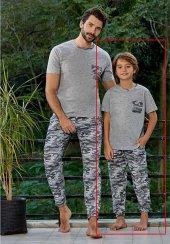 Eros 21053 Erkek Çocuk Kamuflaj Kısa Kol Pijama Takımı