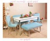 Mutfak Masası Taytüyü Kumaş Masa Sandalye Takımı Bank Takımı