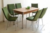 6 Kişilik Mutfak Masası Taytüyü Masa Sandalye Takımı Yemek Masası