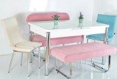 6 Kişilik Açılır Mutfak Masası Kelebek Masa Yemek Masası Taytüyü Masa Sandalye Takımı
