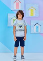 Roly Poly Erkek Çocuk K.kol Bermuda Tkm 1206 V2 5 8 Yaş Açık Mavi