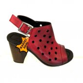 Elegra 01741 Deri Bordo Kadın Sandalet