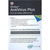 Mcafee Antivirus Plus Türkçe 1 Kullanıcı 1 Yıl