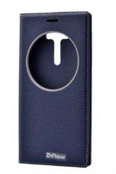 Asus Zenfone 2 Laser Ze550kl Kılıf Dolce Case Kapaklı Lacivert