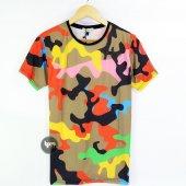 Kamuflaj Desen Unisex T Shirt Tişört